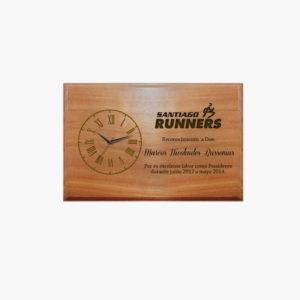 Placa de Madera Retablo Reloj